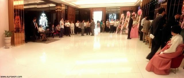 Comienzo de una boda coreana