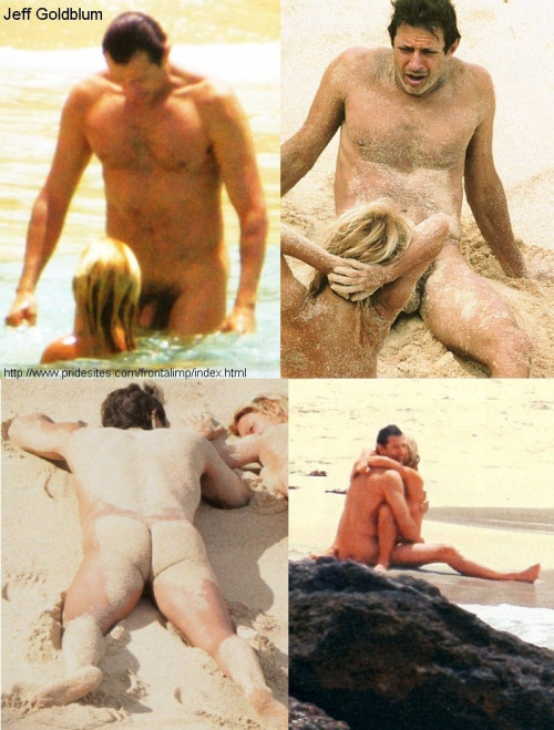 Naked on beach jeff goldblum