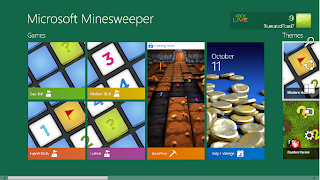 windows 8 minesweeper home screen