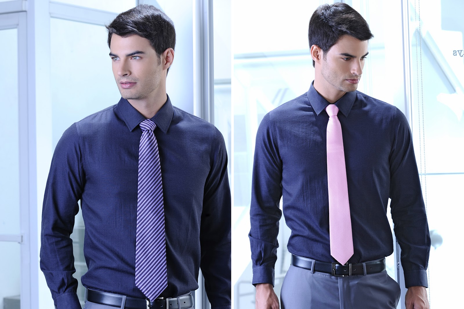 Neckties in the news from sm accessories promos event ph for What color tie with blue shirt