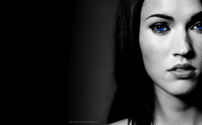 Megan Fox Blue Eyes Wallpaper - Celebrity Close-Ups Wallpapers