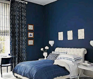Dark blue bedroom ideas