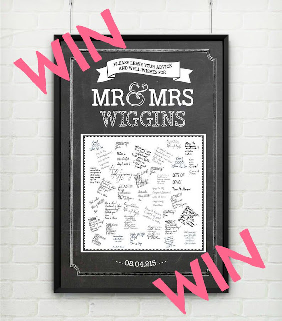 Personalised Wedding Chalk Guestbook Poster Print