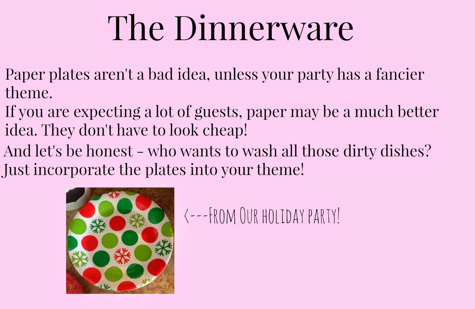 6 Tips to Throwing a Successful Party - Dinnerware