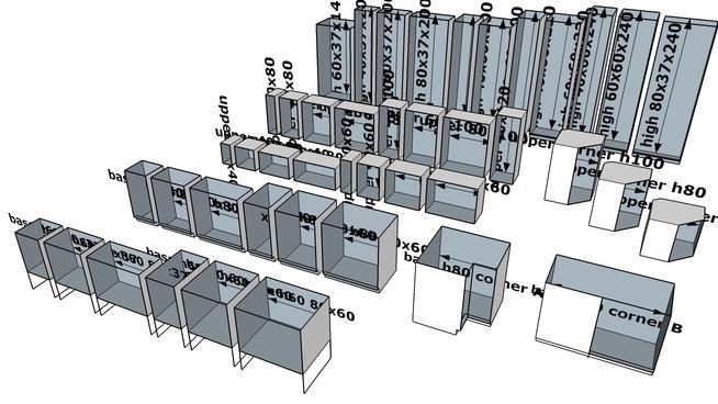 muebles de cocina de ikea medidas de o altura de cms