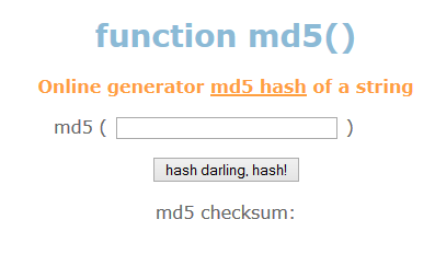 MD5 Function Generator