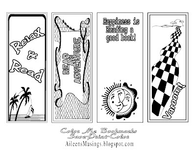 Free Printable Bookmark Templates to Color