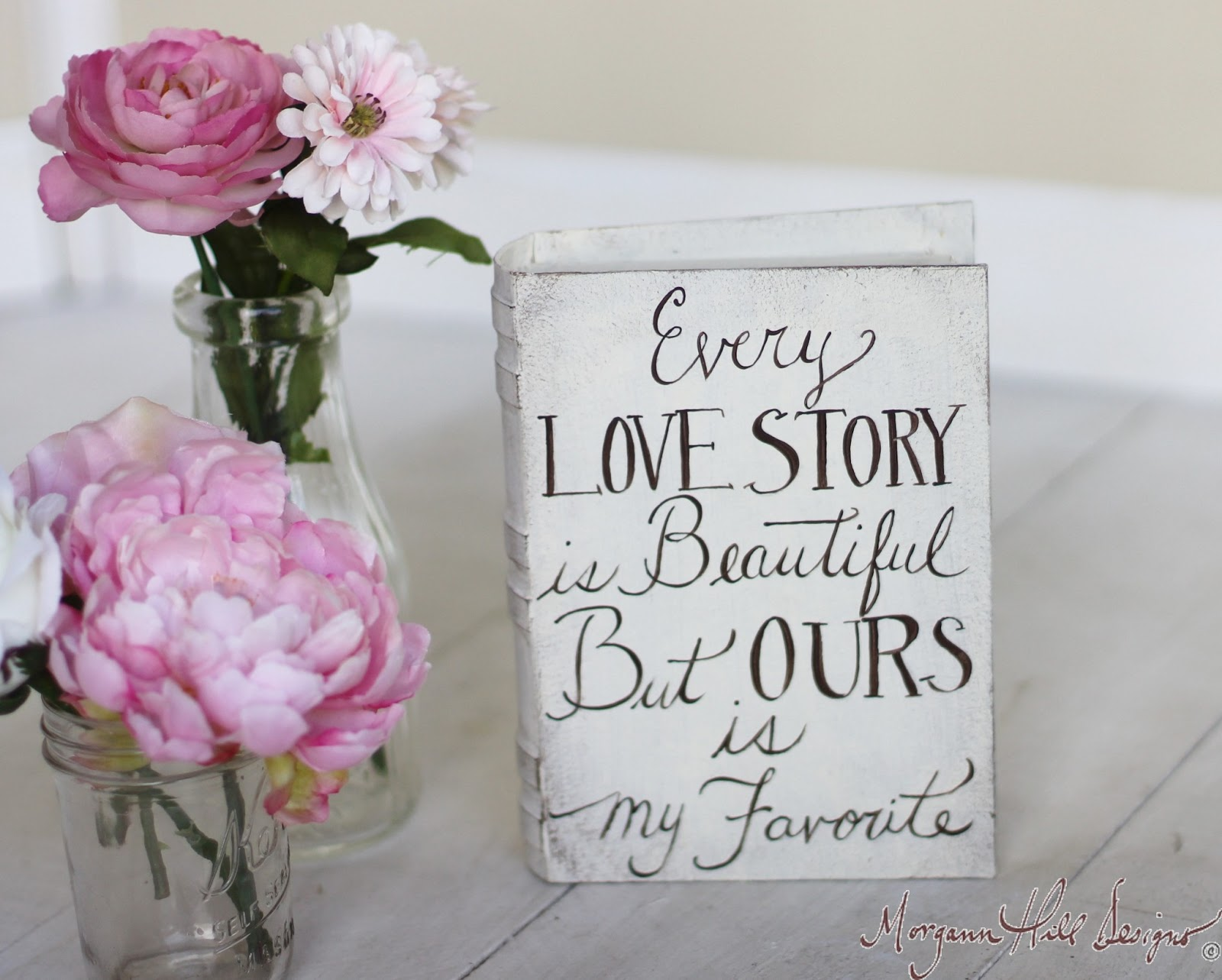 Shabby Chic Pillow Boxes : Morgann Hill Designs: Ring Bearer Pillow Box Shabby Chic Decor Vintage Inspired Hand Painted ...