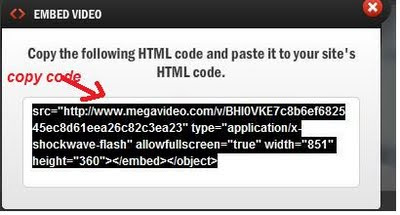 Megavideo Embedding
