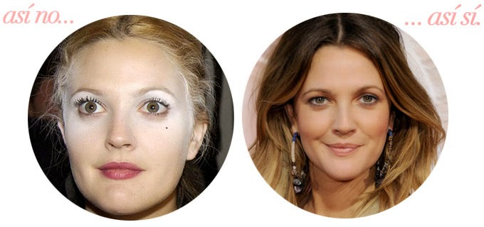 Drew Barrymore error maquillaje