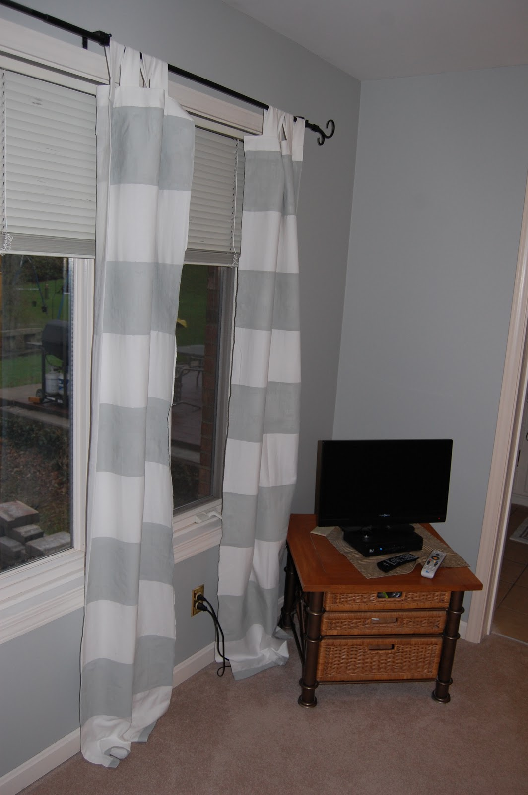 Living in the 513 striped painted curtains for Small room karen zoid chords