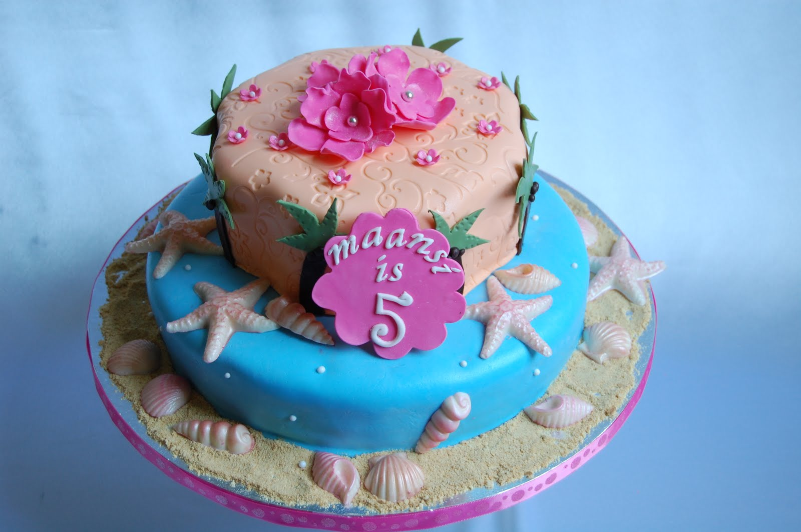 CUSTOMISED CAKES BY JEN hawaiian birthday cake