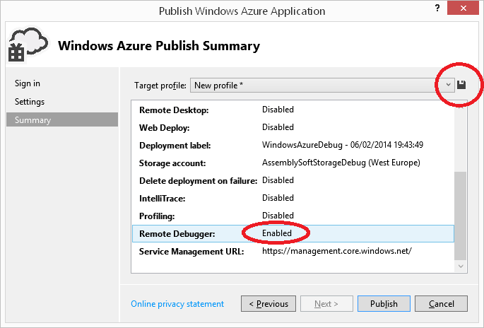 how to connect to a service debugger windows