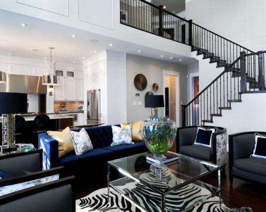 Tapetes de couro for Living room ideas zebra