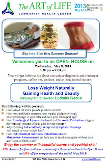 Lose Weight Naturally Gaining Health and Beauty  Lecture by Liudmyla Gerus, ND, May 8, 2013, poster