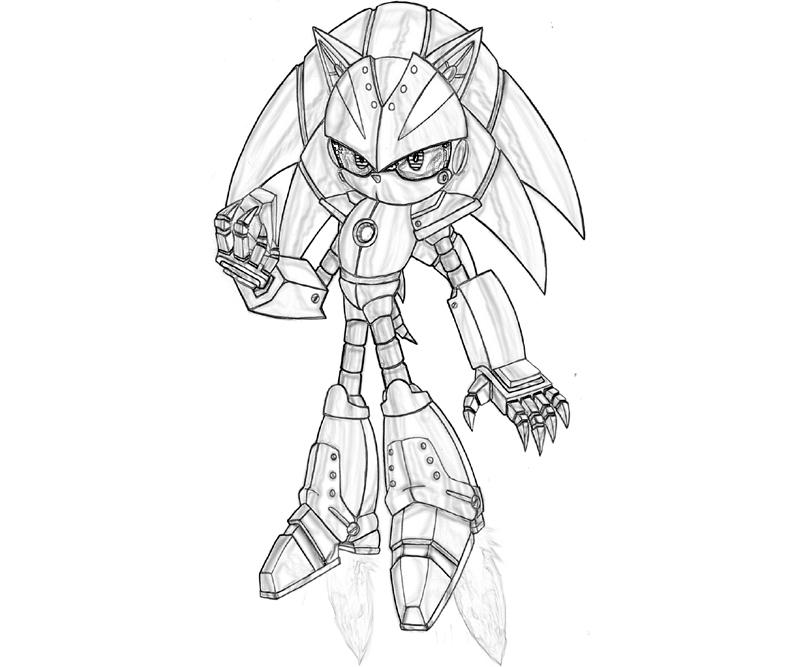 Sonic Generations Metal Sonic Diamond Coloring Pages title=