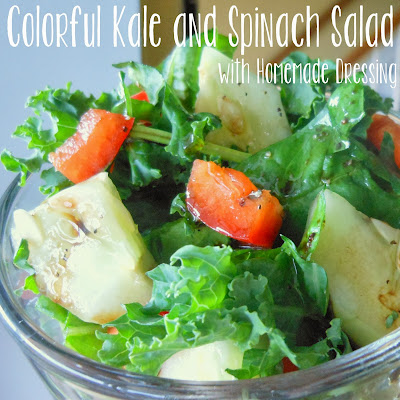Colorful Kale and Spinach Salad