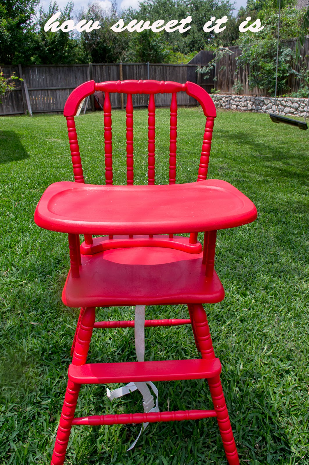 & How Sweet It Is: High Chair Re-do Jenny Lind
