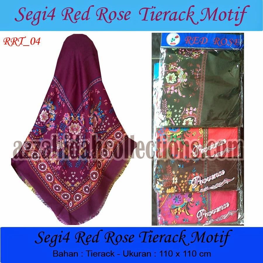 Jilbab Segi Empat Red Rose TieRack - www.azzahidahcollections.com