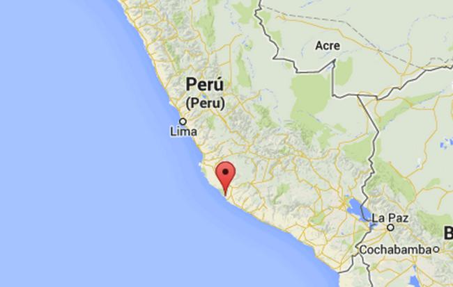 EPICENTRO SISMO DE 5,5 GRADOS EN COSTA SUR DE PERU, 1 DE SETIEMBRE 2014