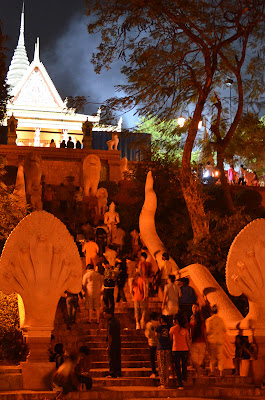 Lunar New Year at Wat Phnom, Phnom Penh, Cambodia
