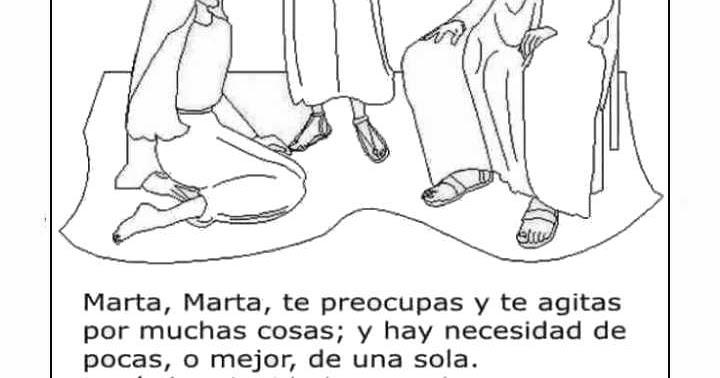 Imagen de Jesús, María y Marta para colorear ~ Mi vida sin Cristo no ...