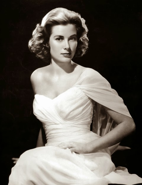 one shoulder white gown - princess grace kelly of monaco style icon
