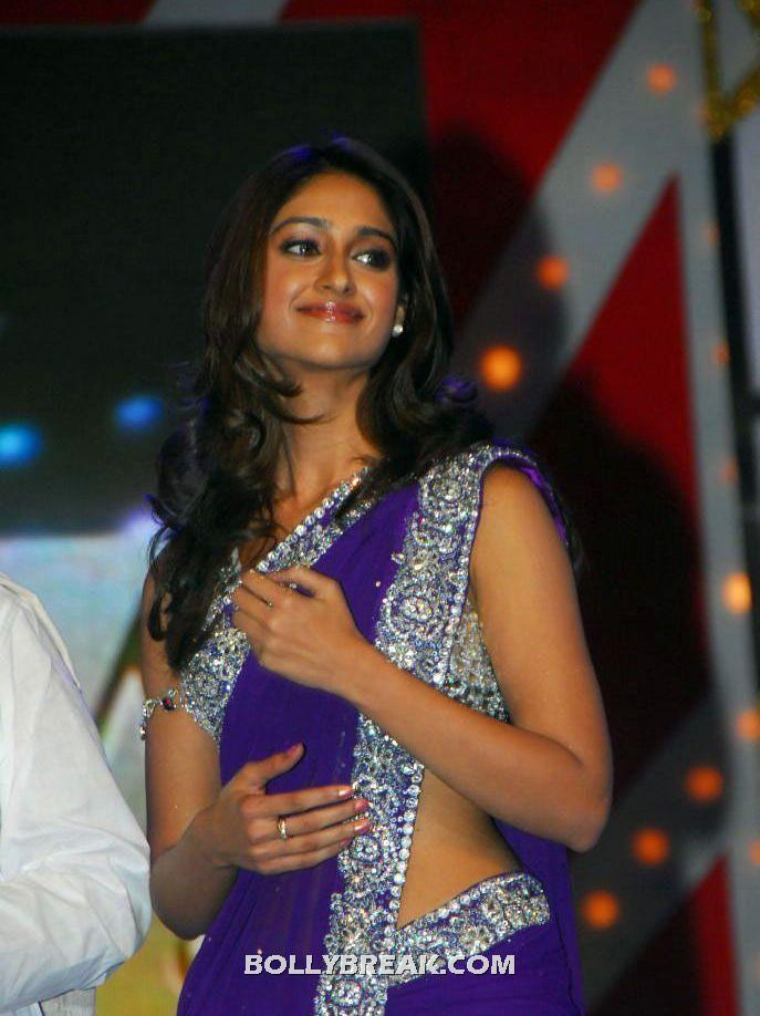 Ileana in purple saree at TSR Awards - Ileana in purple saree at TSR Awards