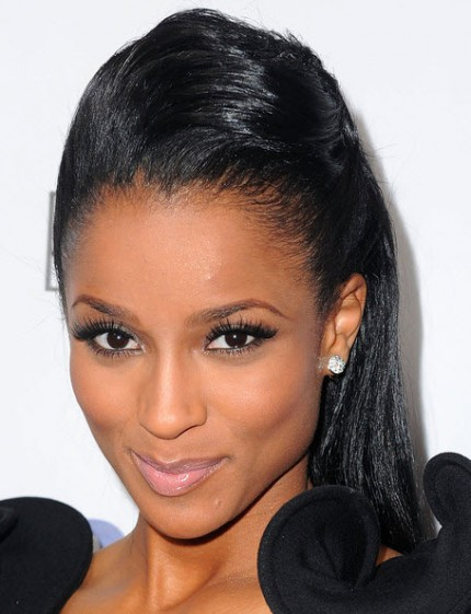 Ciara pompadour up do hairstyle
