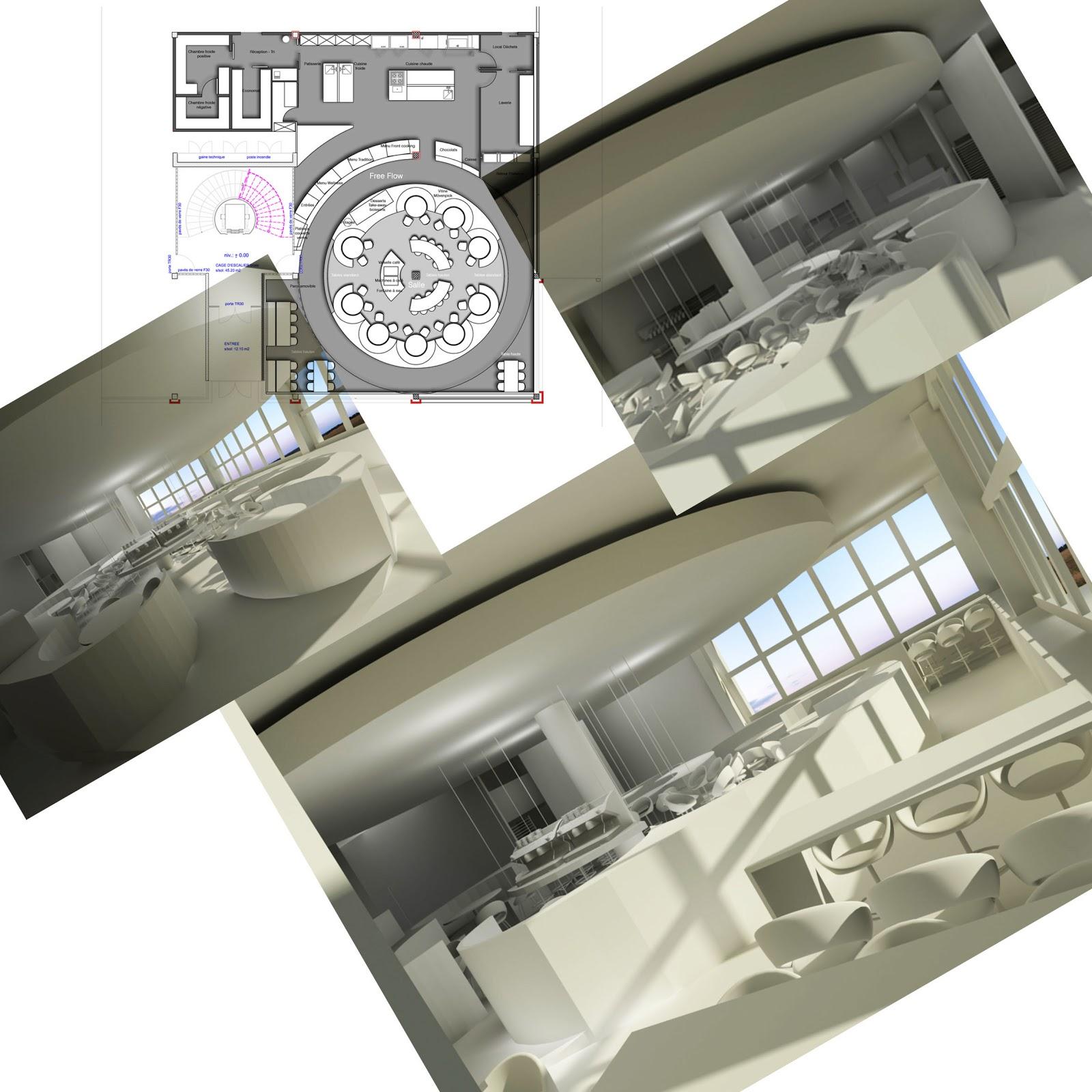 laure marcon architecte d int rieur esquisse de projet restaurant. Black Bedroom Furniture Sets. Home Design Ideas