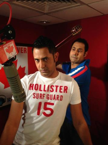 "Gippy Grewal On Shoot Of Upcoming Movie ""Best Of Luck"" With Binnu Dhillon"