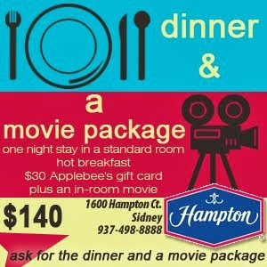 Hampton Inn Dinner and a movie