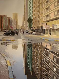 Resplandecientes Vistas Urbanas Pintura Moderna