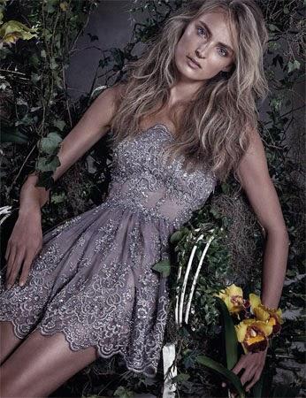 vestido curto de noite bordado com rendas Patrícia Bonaldi verão 2015