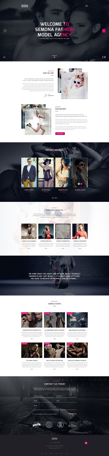 Fashion Semona Creative Joomla Template
