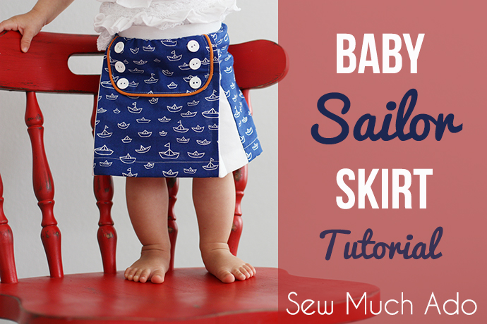 Baby Sailor Skirt Tutorial by sew much ado