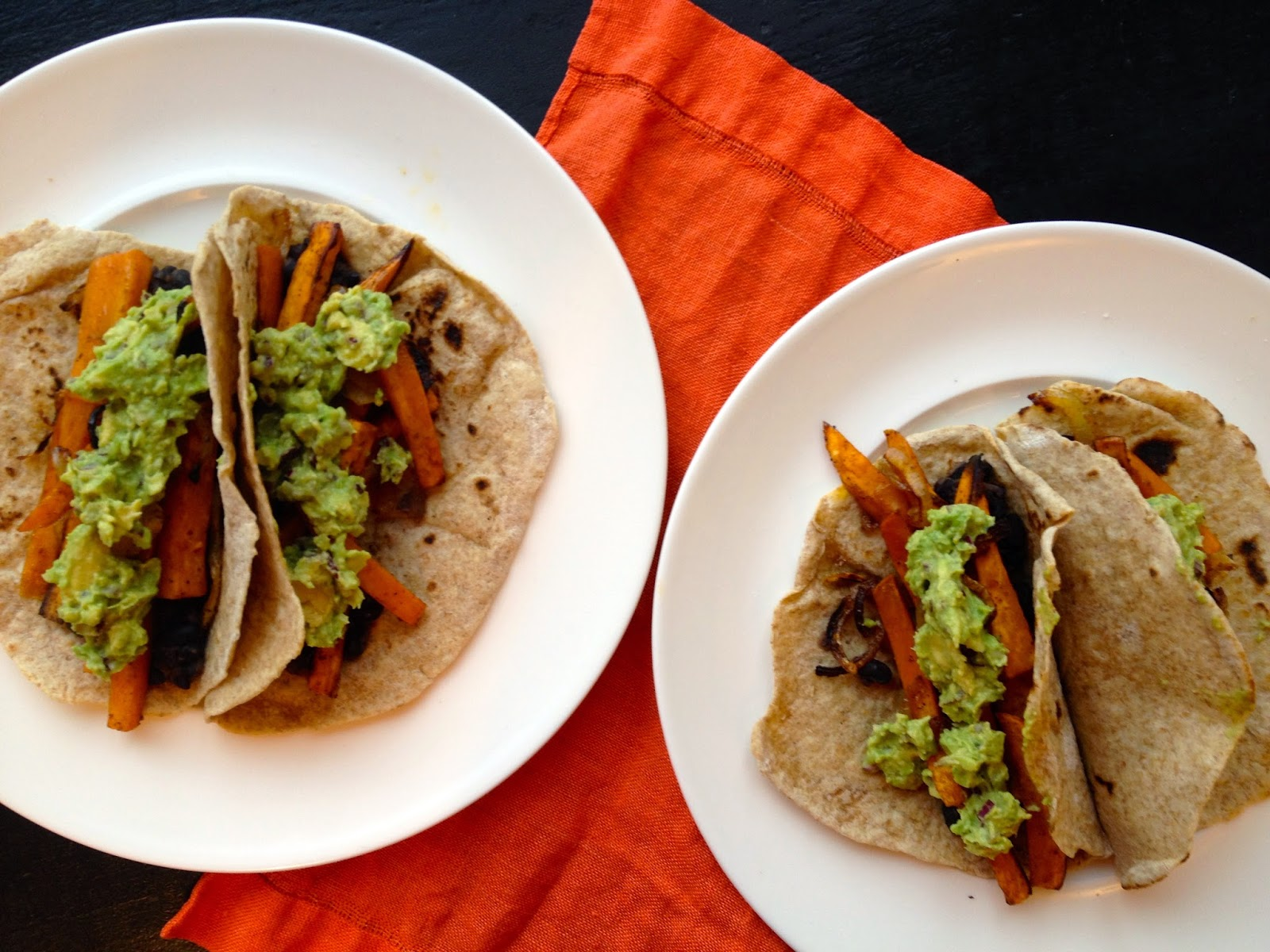 Chipotle Sweet Potato, Black Bean and Guacamole Soft Tacos - Eat ...