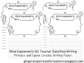 Printables Substitute Teacher Worksheets luckeyfrogs lilypad 5 great freebies to leave for a substitute teacher