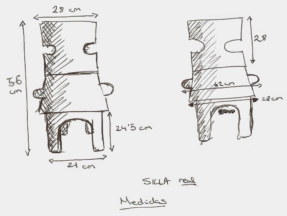 Mara places p rez dise o de una silla for Medidas sillas ninos