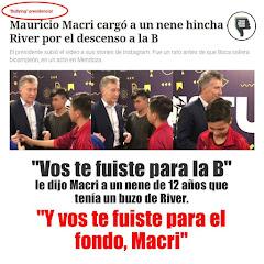 Macri vs los hinchas de River