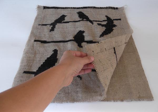 how to make a bag, burlap bag, how to bag,