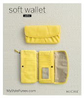 Miche Soft Wallet Yellow