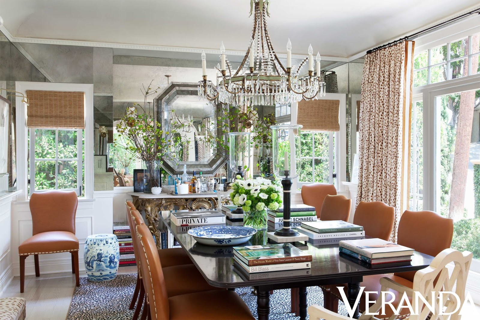 Mark D Sikes Dining Room Of Daily Cup Of Couture Mark D Sikes In Veranda