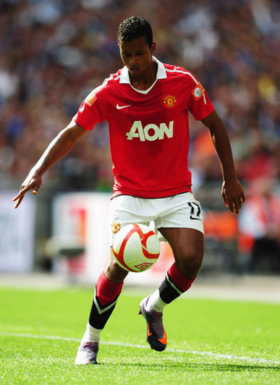 Luis Nani Man utd winger 2011-2012
