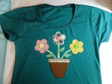 vasinho de flores! patchcolagem