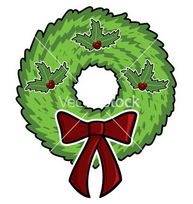 Christmas Wreaths Cartoon Picture