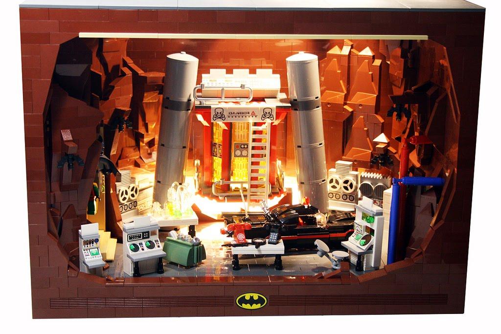 Super Punch: Lego Batmobile and Batcave