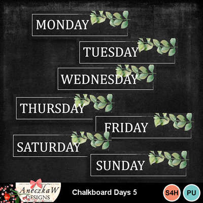 Freebie Chalkboard Days
