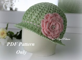 Toddler Summer Hat Crochet Pattern, Size 1-2 Years Old, $3.25