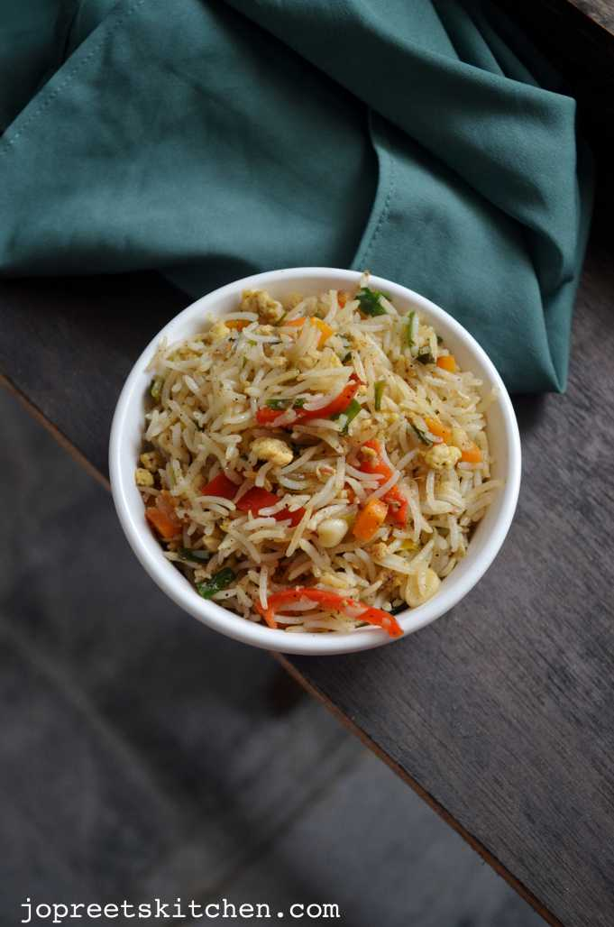 Egg Fried Rice | Jopreetskitchen